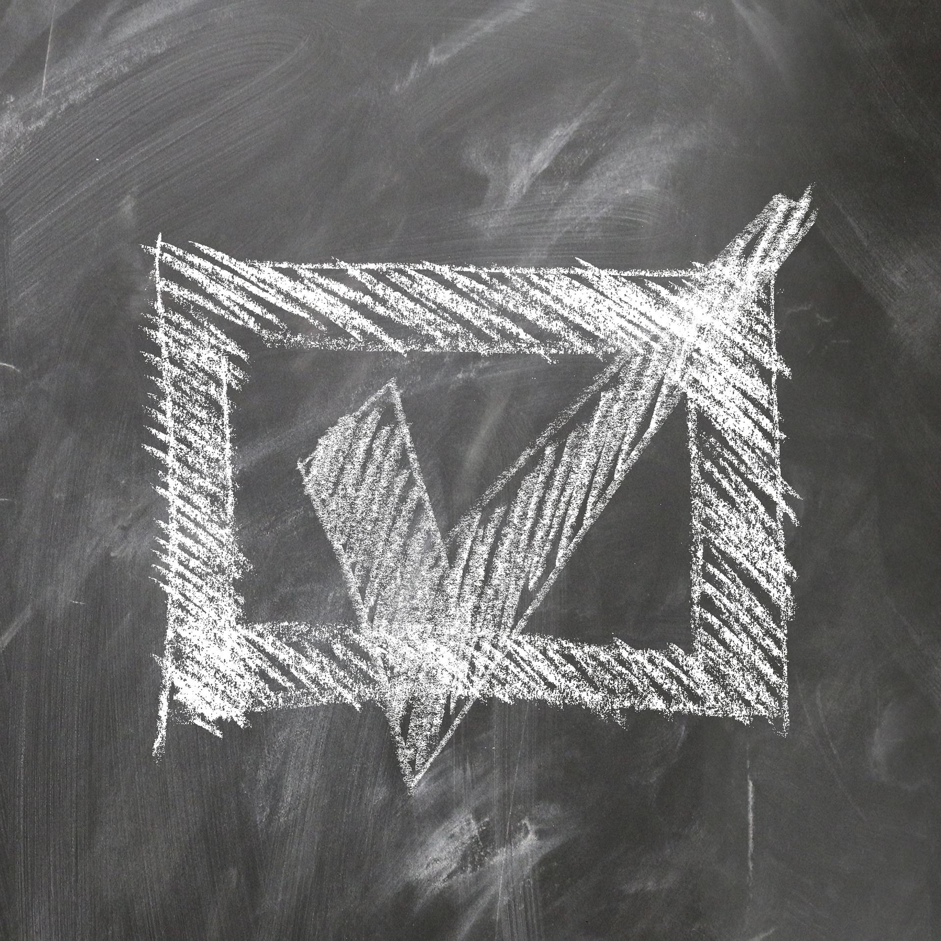 Schoolbord met schoolkrijt