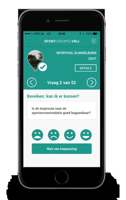De app Sportdrempelvrij