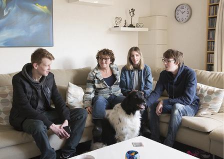 Annette met haar drie kinderen