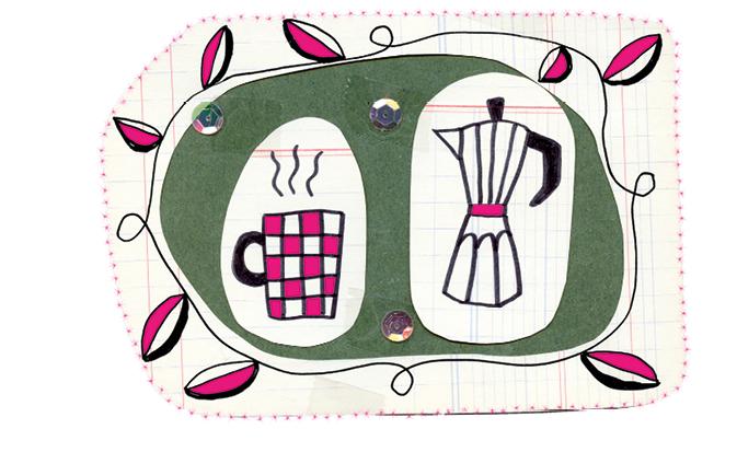 Getekende illustratie van een theekopje over eenzaamheid