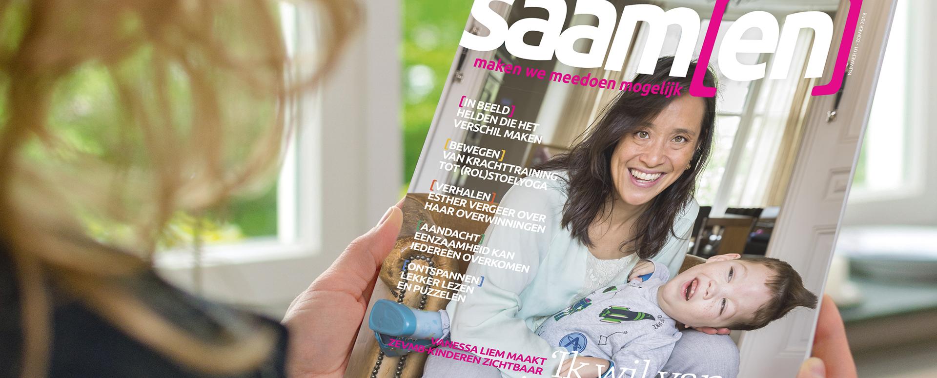 Foto van magazine Saam[en]