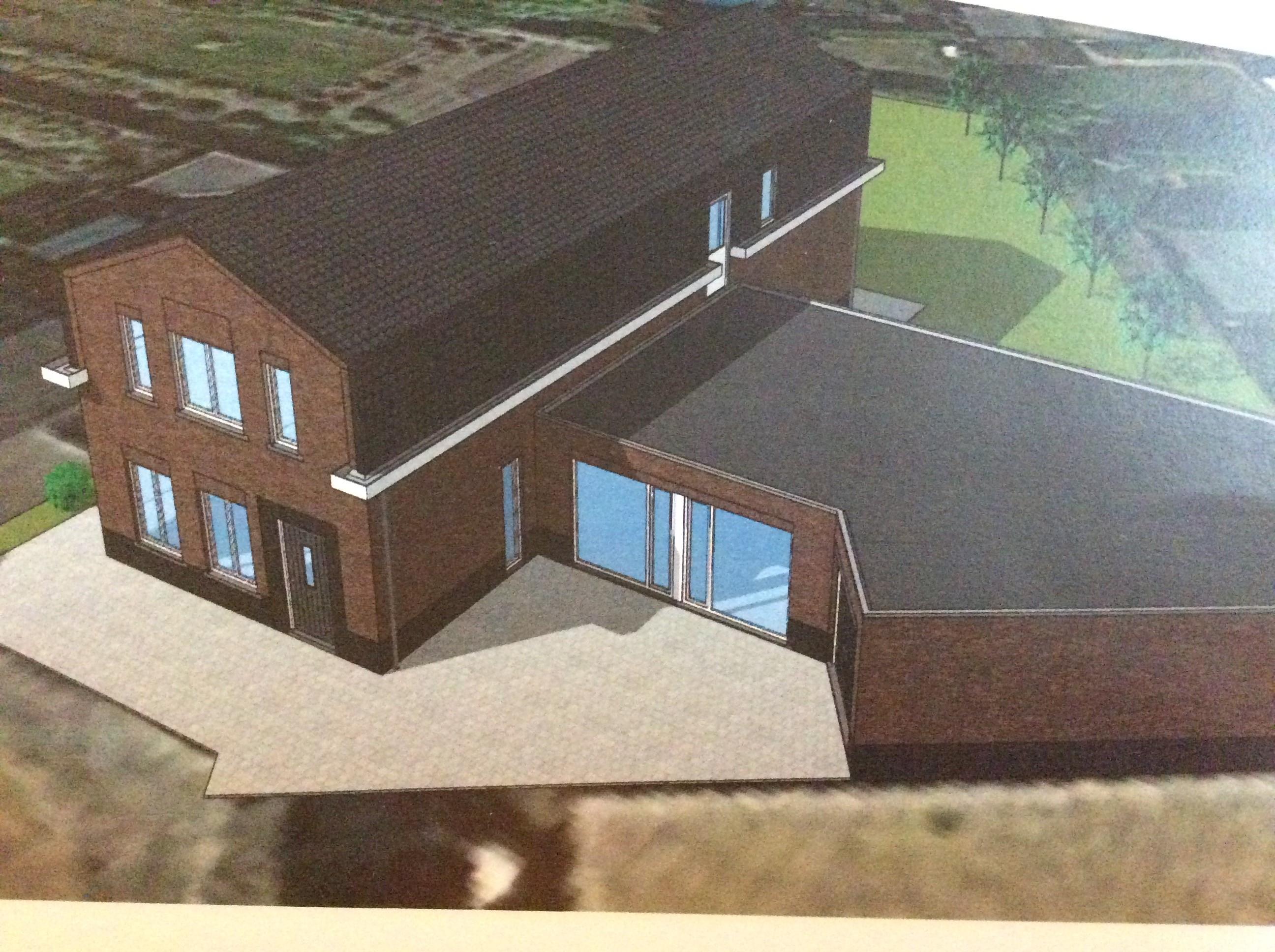 Grafische weergave bovenaanzicht groepswoning Stichting GeWoon in Sevenum.