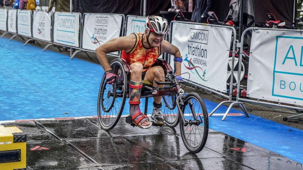 Djoke van Marum tijdens de HandicapNL triathlon 2018