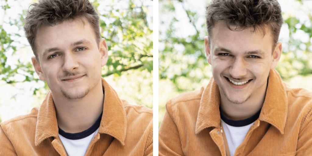 Jurre Geluk twee portretten