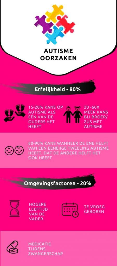 Autisme oorzaken infographic