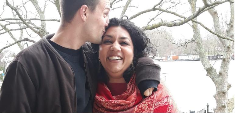 Nazima Shaikh en haar partner
