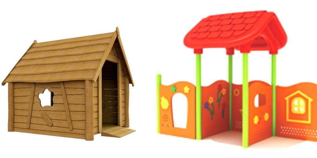 Rolstoeltoegankelijk speelhuisje